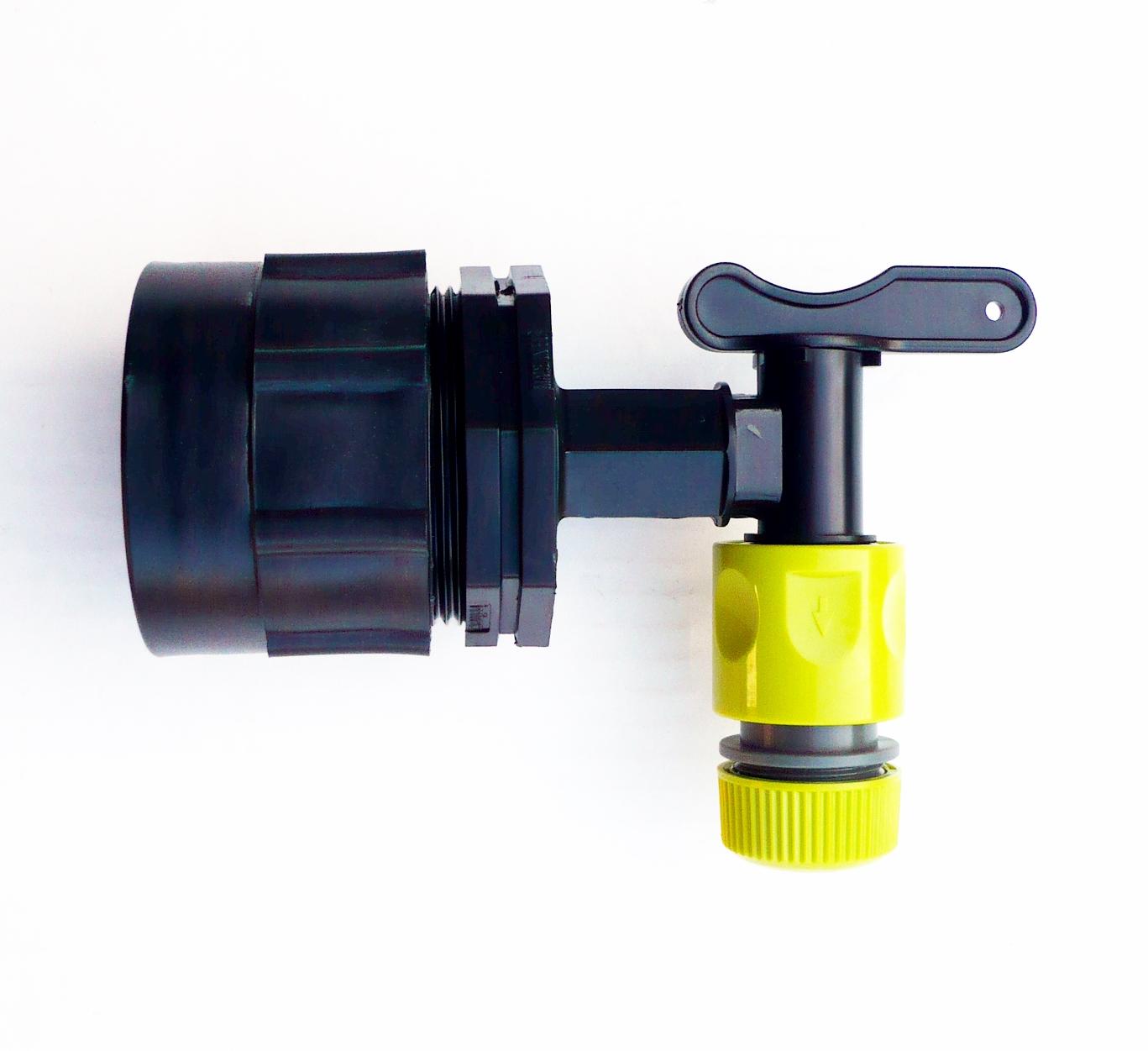 h d ibc adaptateur s60x6 pour robinet citerne eau de pluie c avec construit en ebay. Black Bedroom Furniture Sets. Home Design Ideas